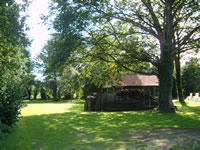 A view of the spacious gardens surrounding the self catering accommodation